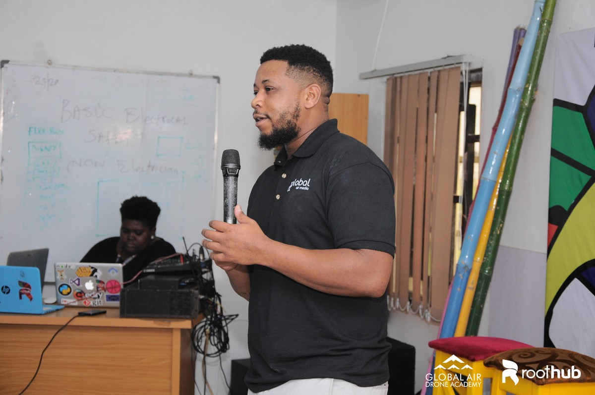 Eno Umoh at drone for agric workshop