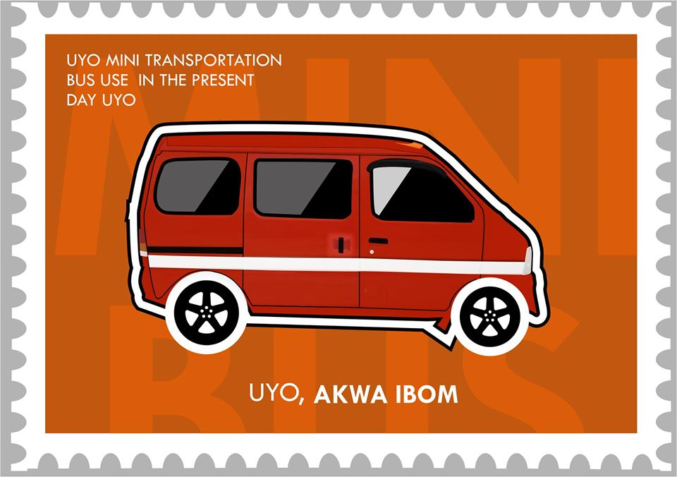 Uyo Mini Bus illustration by James Moses