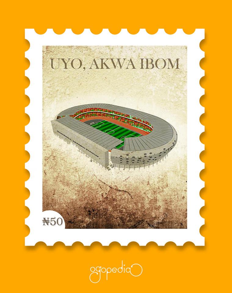 Godwill Akpabo Stadium Illustration by Ogoluwa Ojewale